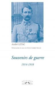 André LETAC, Souvenirs de guerre 1914-1918