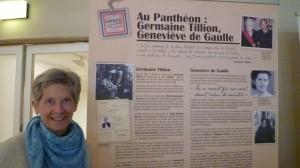 Exposition Lutetia 1945- Panneau sur Germaine Tillion et Geneviève de Gaulle