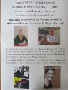 Conférence Beuzeville-Violette Morris